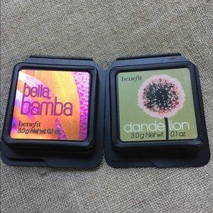 Benefit Bella Bamba and Dandelion blush