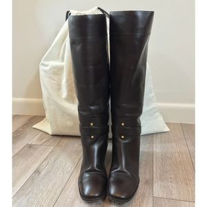 YSL 'Thelma' Harness Riding Boots Size 37