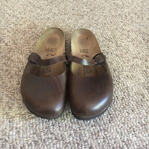 Birkenstock Birki's Brown Clog Mary Jane Shoes 7