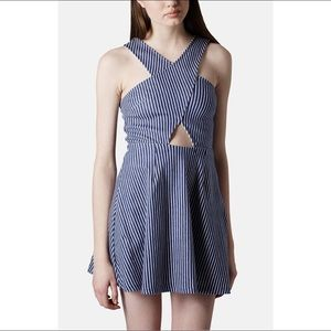 Topshop Denim Fit and Flare Dress