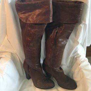 Pour La Victoria thigh high boots sz 7