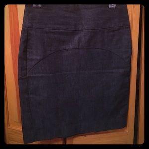 Gap jean pencil skirt size 1
