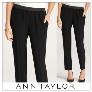 Ann Taylor Pull on Elastic Draped Ankle Pants