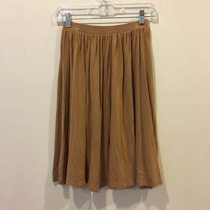 Asos Tan Cotton Circle Skirt