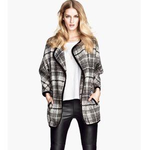 NWT H&M Open Front Plaid Jacket
