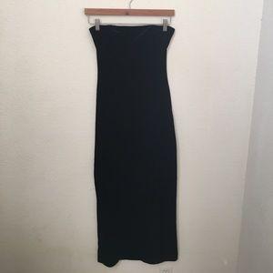 {Shape FX} Strapless Velvet Dress w/ Sexy Slit
