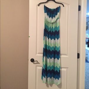 Teal chevron maxi