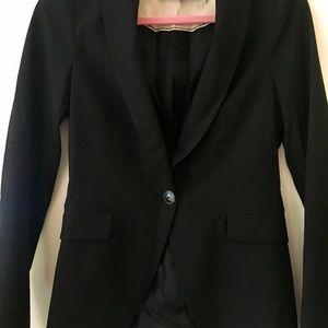 Zara black single button blazer