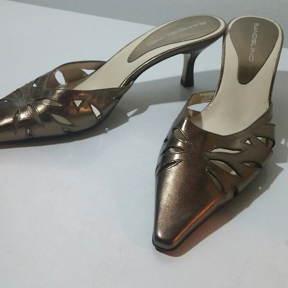 a713be4980 Bandolino Shoes | 4 For 20 Classywomens Gold Mules | Poshmark