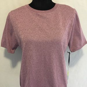 Samantha Grey sweater Blouse knitted Purple top