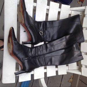 Ralph Lauren black shirt pointed toe boots