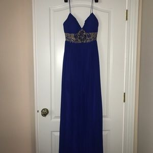 AIDAN MATTOX royal blue dress