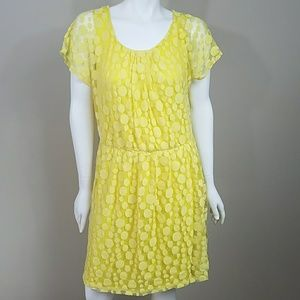 🔆 Roz & Ali Yellow Dot Dress