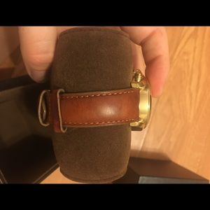 Michael Kors Gold Watch with Leather Band