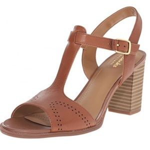 "Clarks ""The Ciera Glass"" heel sandal in nutmeg"