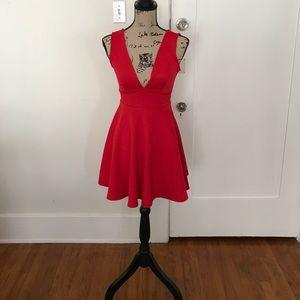Forever 21 Red Flare Dress