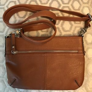 🛍 Merona Brown Cross Body Bag