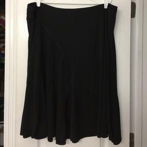 Black Ponte Knit Skirt