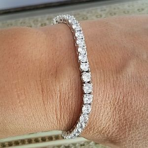 """Tennis 7"""" inches Silver Bracelet"""