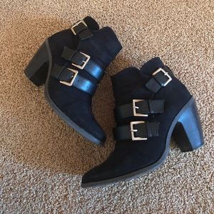 🌟Adorable Black Heeled Ankle Boots