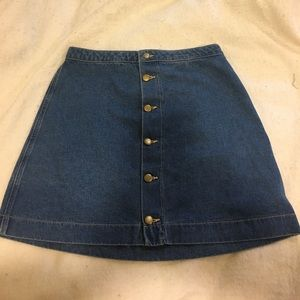 American Apparel jean skirt