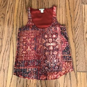 Lucky Brand sequined top size XS