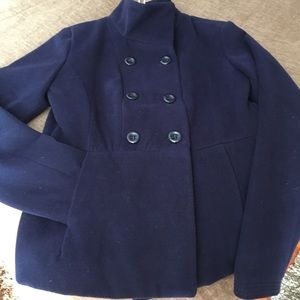 Navy Pea Coat NWOT