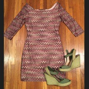 Dresses & Skirts - Chevron Bodycon Mini Dress