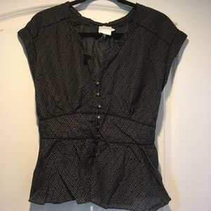 Anthropologie Peplum Top by HD In Paris Size 10