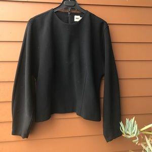 ASOS simple black neoprene top