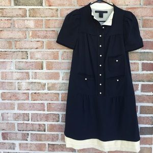 Marc by Marc Jacobs navy Pearl button dress Size 0