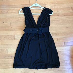 Forever 21 black belted dress