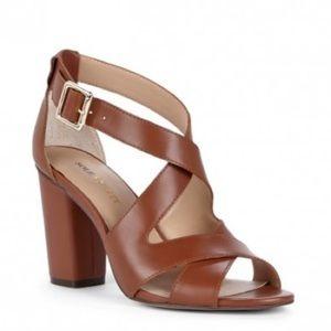 Tan heeled sandals (never worn)
