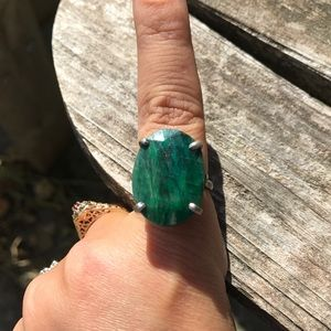 Jewelry - Large natural emerald ring