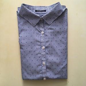 Ladies Lands' End Dress Shirt - 100% Supima Cotton