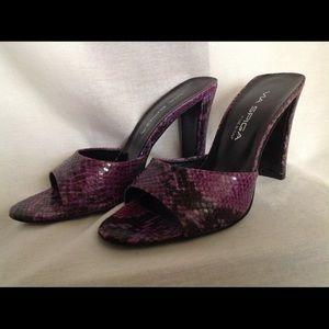 Via Spiga Purple Snake Slide Heel