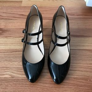 Black and gold dress shoes