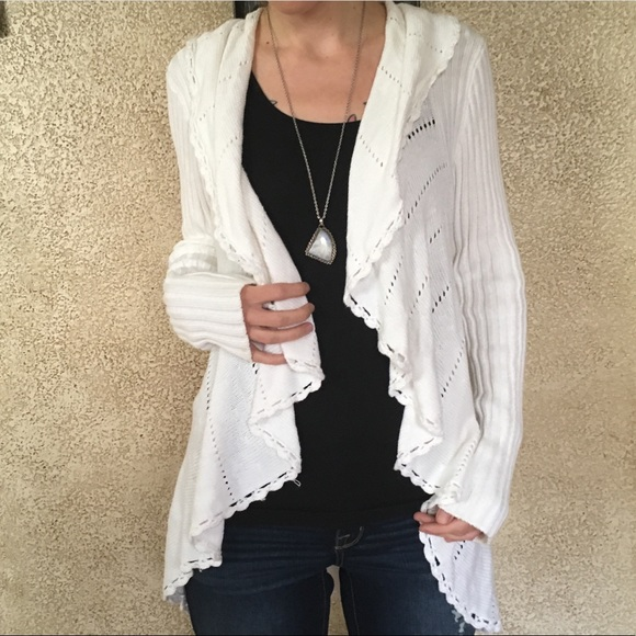 76% off Belldini Sweaters - SALE!☁️Cozy White Waterfall Cardigan ...