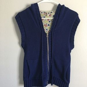 Free People's Hooded Zip Up Sweater