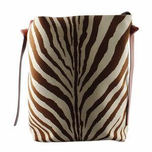 Celine Cabas Zeebra Print Leather & Fabric 136032