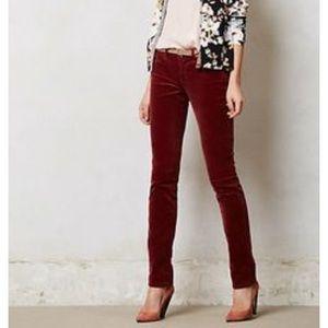 AG Burgundy corduroy jeans