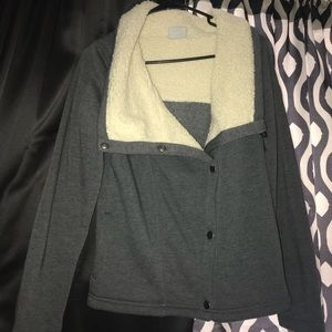 Bonded Fleece Sweater Jacket
