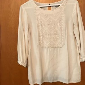 Urban outfitters white embroidered blouse