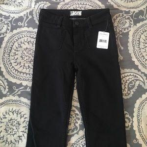 NEW free people black jeans