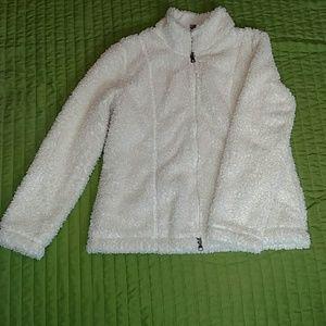 Lovely, Ladies J.Jill ivory fleece jacket