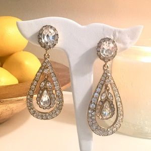 Kenneth Jay Lane Antique Drop Earrings, gold