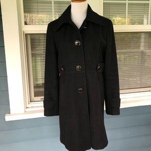 GIACCA Black WOOL-blend Coat