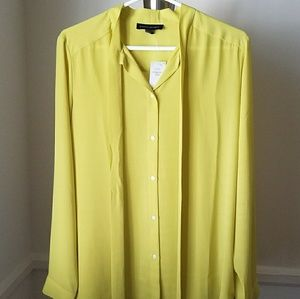 Banana Republic Silky Tie-Front Blouse -NWT!