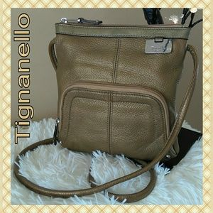 EUC Tignanello Bronze Crossbody Bag