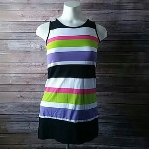 Here + There Striped Tank Top